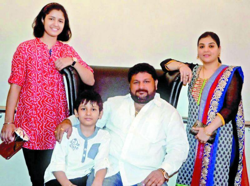 Naina and Agastya with their parents.