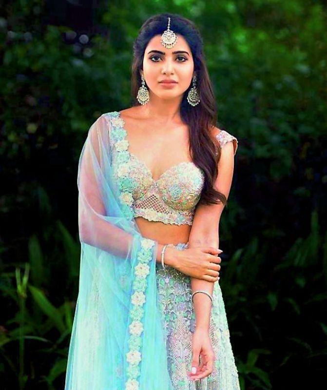 Samantha in Kresha Bajaj's design for one of her wedding ceremonies