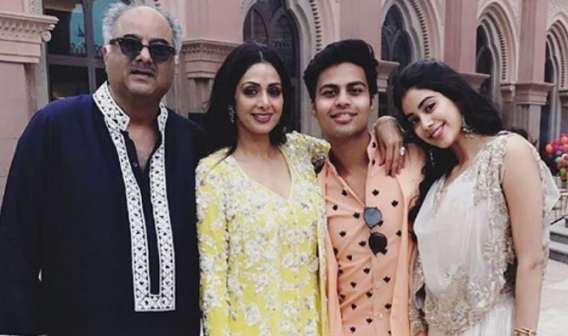 Akshat was close to the entire Kapoor family. Here seen with Jhanvi's father Boney Kapoor and mother Sridevi Kapoor.