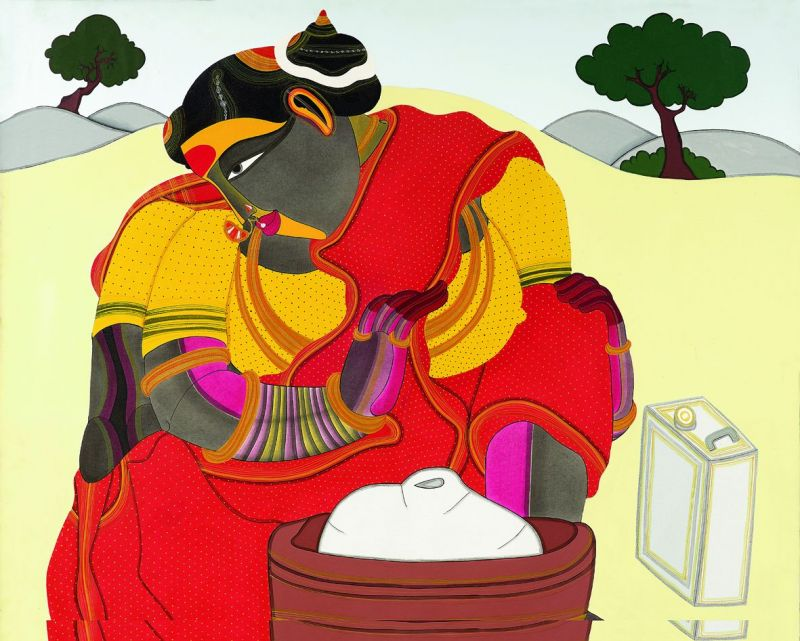 (Right and above) Works of artist T. Vaikuntam