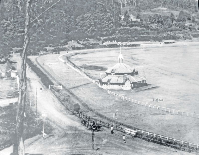 View of the Ooty Race Course in late 1800's.