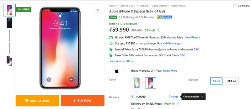 Apple iPhone X price cut