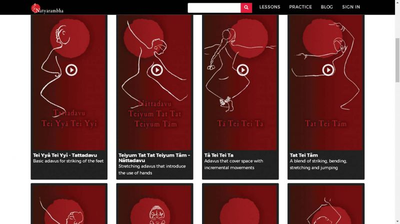 Screen grab of the Natyarambha desktop app
