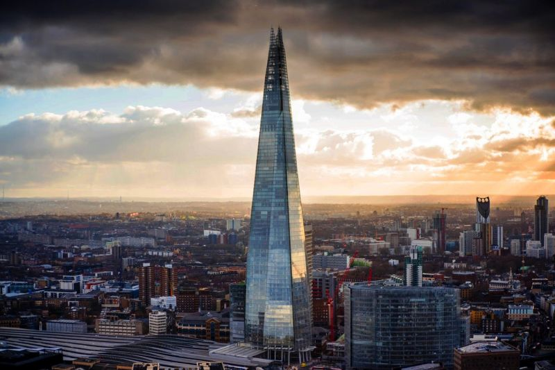 The Shard, a towering 300-meter-tall steel and glass behemoth designed by master architect Renzo Piano. (Phto: )