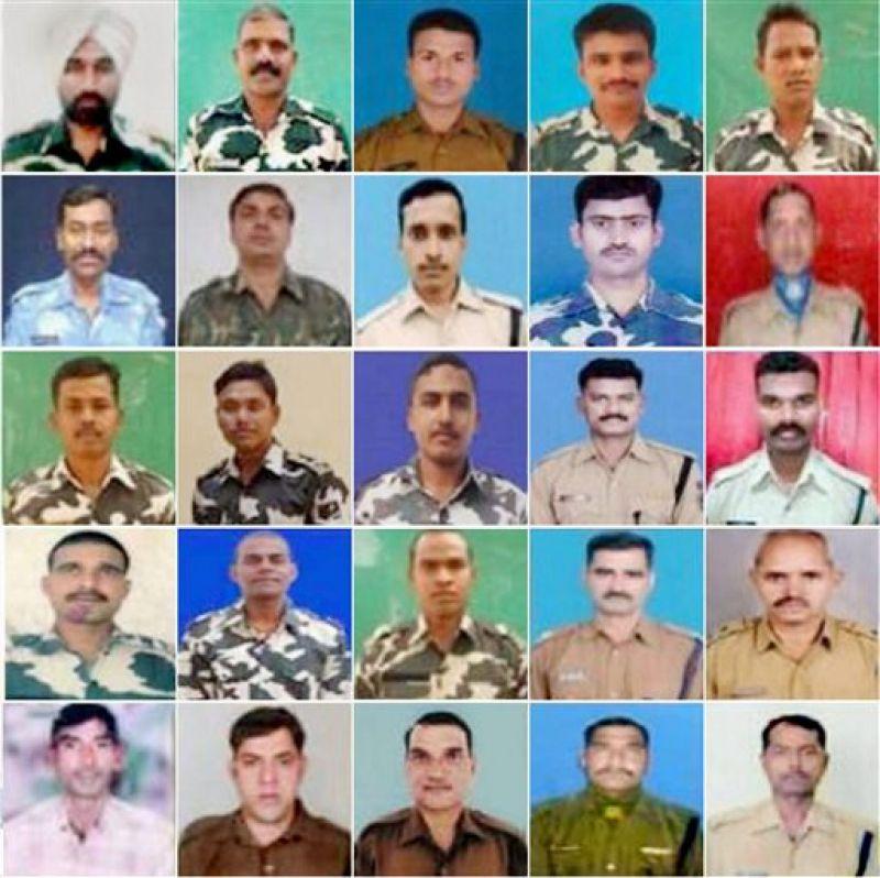 Photos of the 25 CRPF personnel killed in Monday's naxal attack in Chattisgarh's Sukma district. (Photo PTI)