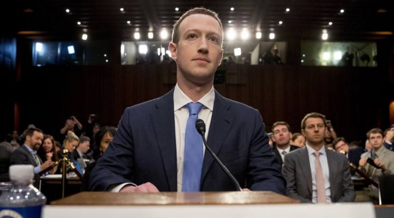 Facebook CEO Mark Zuckerberg before a joint hearing of the Commerce and Judiciary Committees on Capitol Hill in Washington, Tuesday, April 10, 2018, about the use of Facebook data to target American voters in the 2016 election. (Photo: AP)