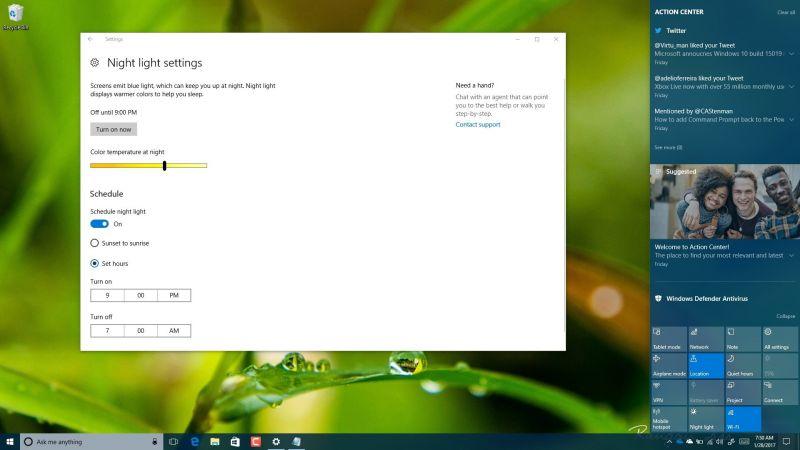Night Light on Windows 10