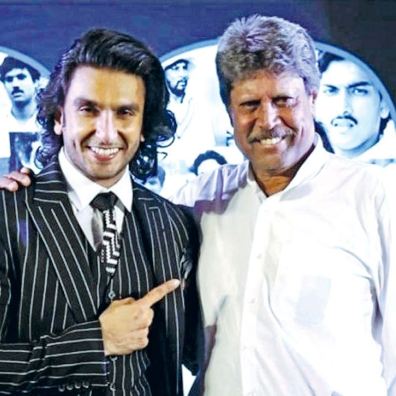 Ranveer Singh with Kapil Dev