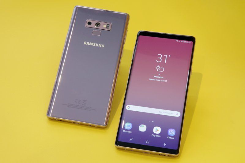 The Samsung Galaxy Note 9 is shown in New York. For $1,000, the Galaxy Note 9 is a superb phone that's the best Samsung has to offer. (AP Photo/Richard Drew, File)