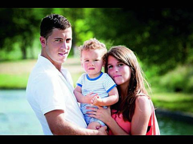 Eden Hazard and Natacha Van Honacker