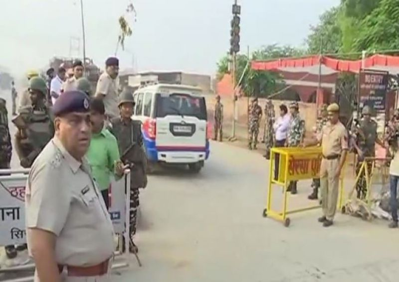 Security tightened at Dera headquarters in Sirsa. (Photo: ANI| Twitter)