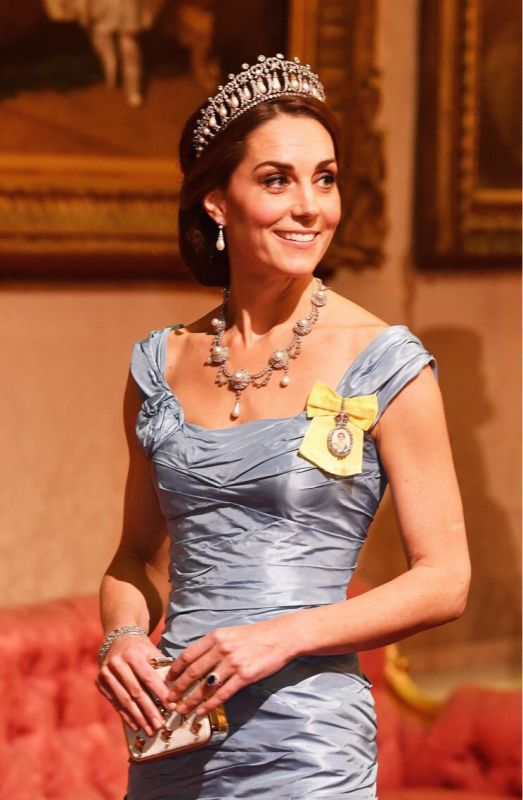 The Duchess of Cambridge sporting Diana's Cambridge Lover's Knot Tiara (Photo: Twitter Screengrab/ @Kensingtonroyal)