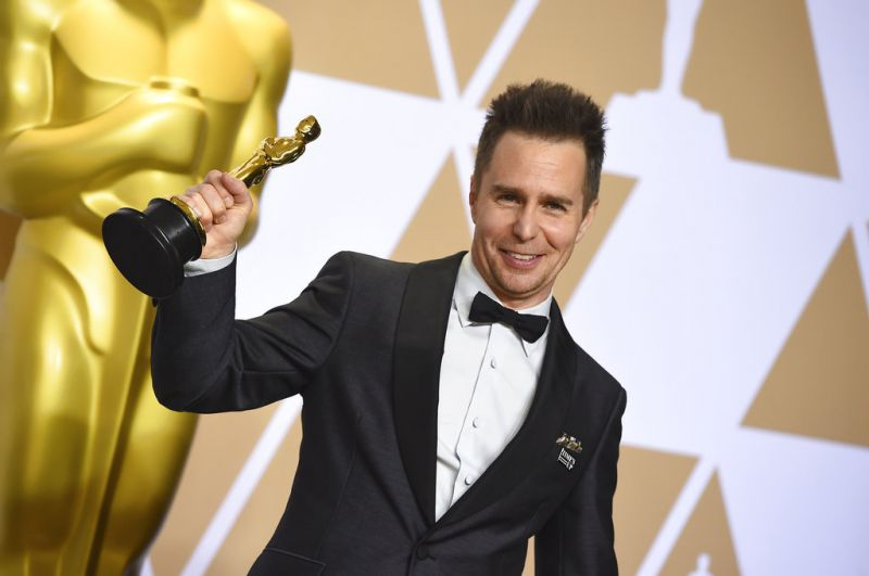 Sam Rockwell, winner of the award for best performance by an actor in a supporting role.