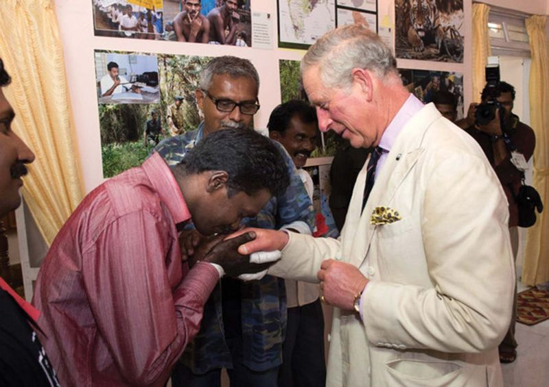 Vava Suresh greeting Prince Charles (File photo)