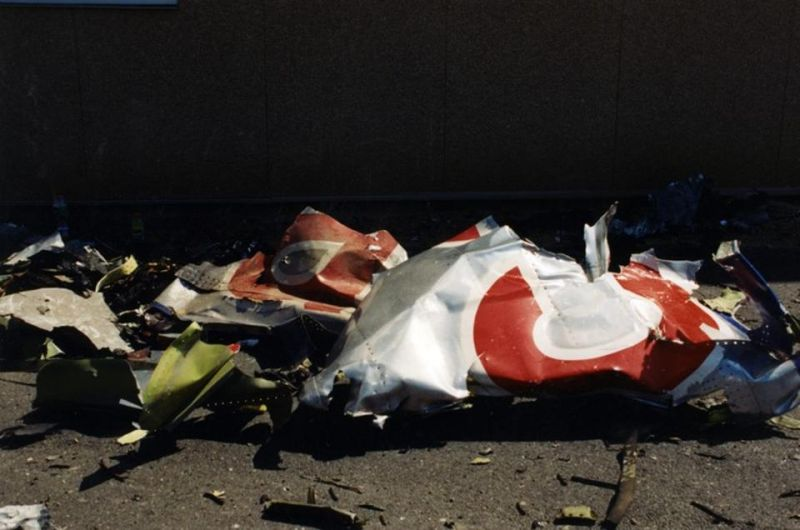 Debris from the American Airlines plane that was used to target the Pentagon. (Photo: FBI)