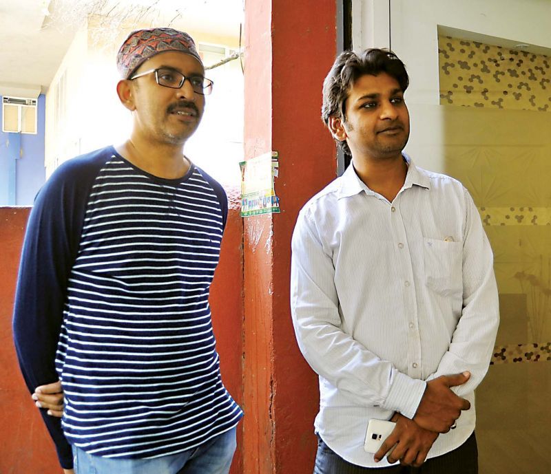 Architect Mansoor Ali (left) and Syed Mansoor, a descendant of Tipu Sultan.