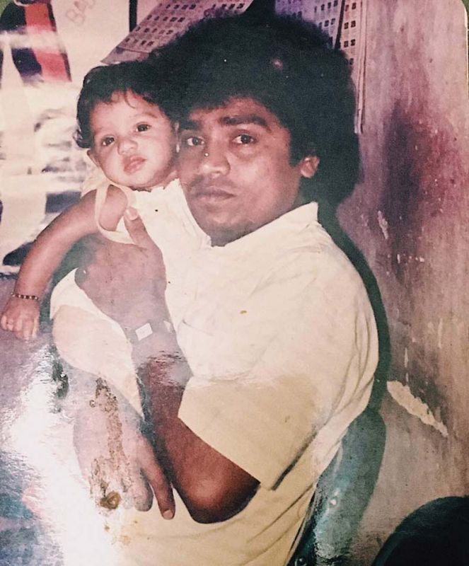 Jamie with her dad Johnny Lever.
