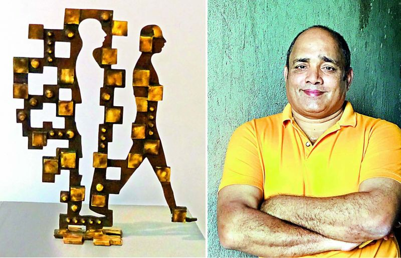 M.V. Ramana Reddy's brass sculpture 'Evolution' is based on the changes that have taken place in the wake of modernism.