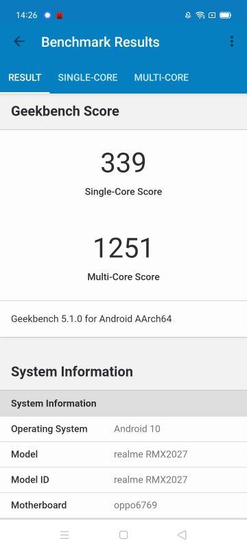 Realme C3 benchmarks
