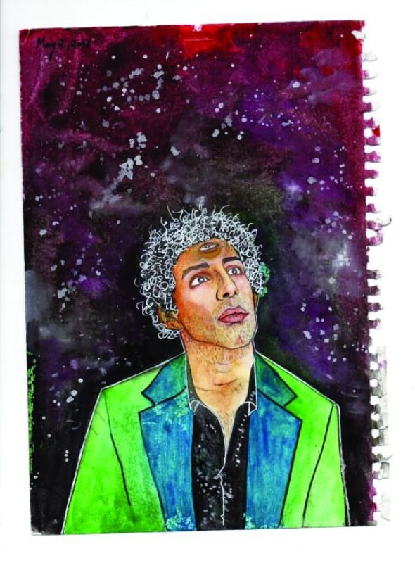 Sravya Sruthi Kothalanka's recent psychedelic painting of Jim Sarbh made an impact on many people in a positive way. A mix of realism and surrealism.