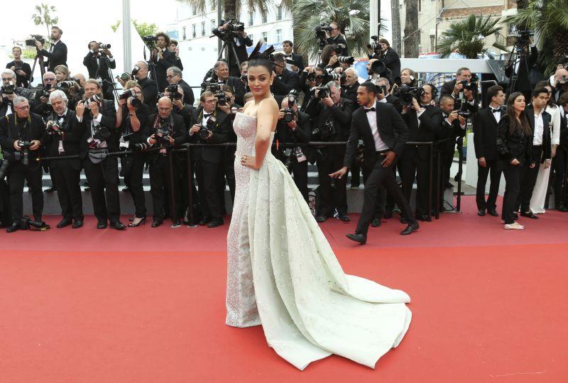 Aishwarya Rai Bachchan at Cannes on Sunday. (Photo: AP)