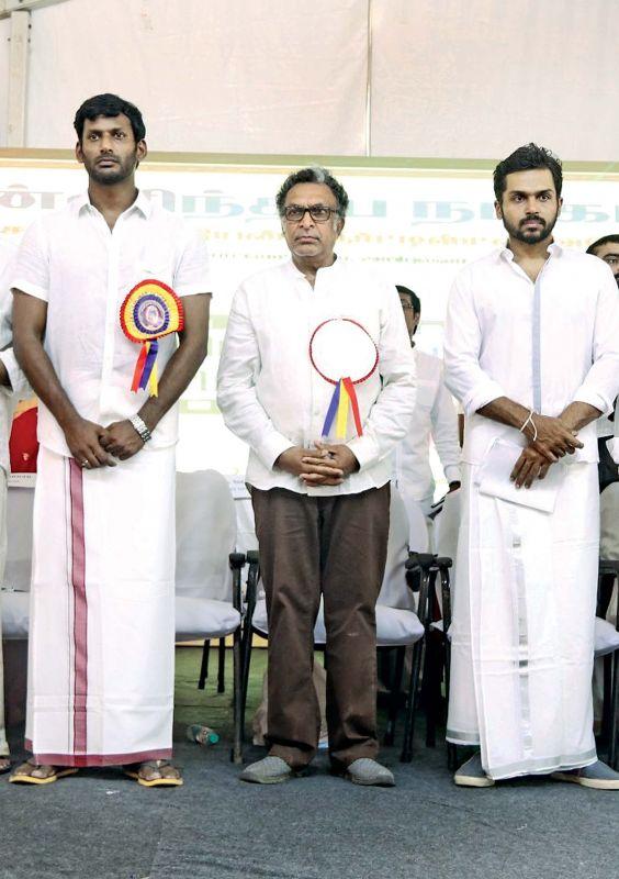 Vishal, Nasser and Karthi