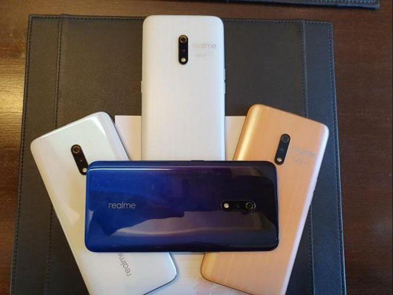 Realme X various colour options