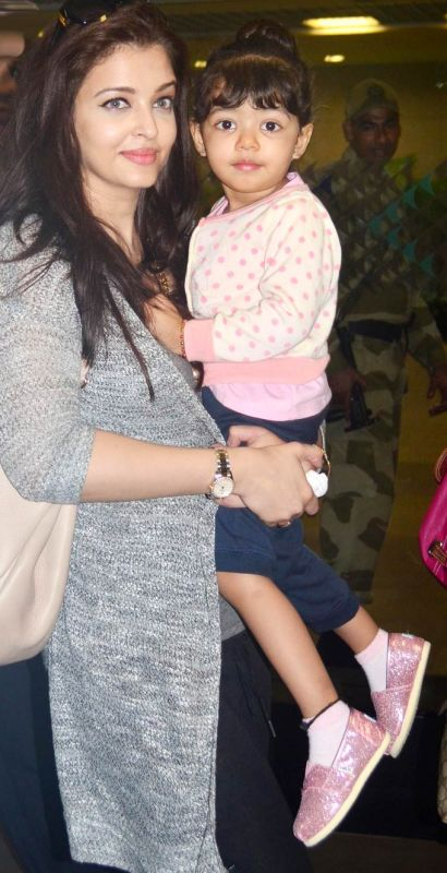 Aishwarya Rai Bachchan with daughter Aaradhya.