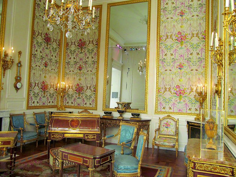 Marie Antoinette's Floral Room at The Louvre