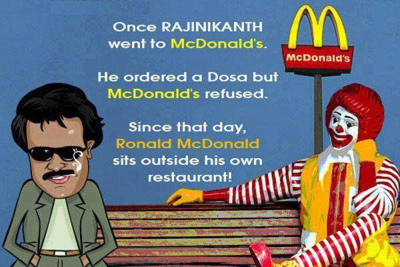 Rajini and McDonald's meme.