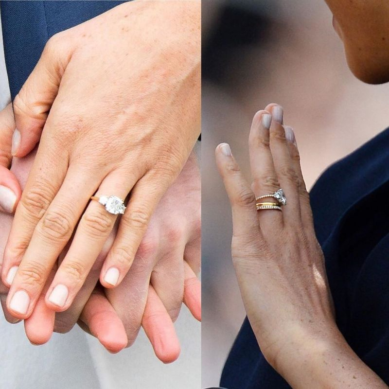 Meghan Markle updated her engagement ring and debited it post the birth of baby Archie.(Photo: Instagram)