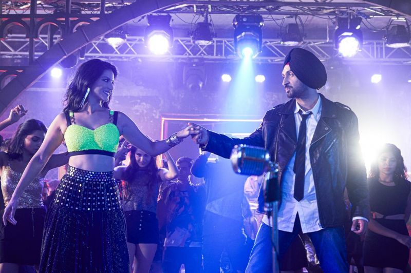 Sunny Leone and Diljit Dosanjh.