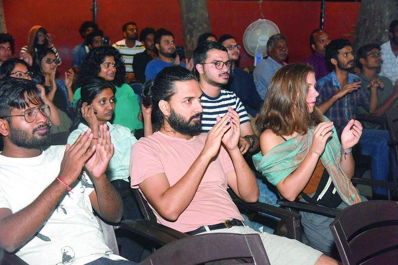 Audience enjoying the show.