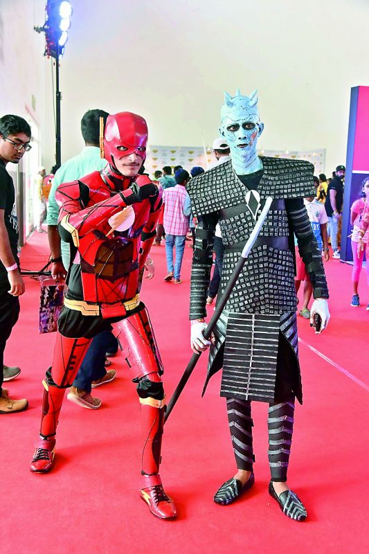 Tejodeep and Ashutosh as Flash and the Night King