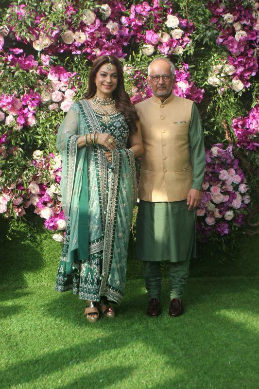 Juhi Chawla with husband Jay Mehta. (Photo Courtesy: Mrugesh Bandiwadekar)