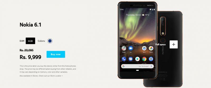 Nokia 6.1 price slashed