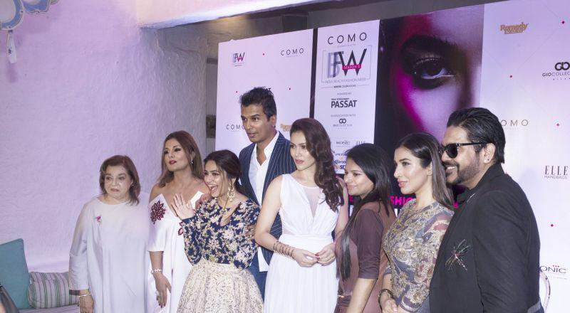 L-R- Pallavi Jaikishan, Anju Chulani, Kriti Kharbanda, Vikram Phadnis, Waluscha de Sousa, Nidhi Munim, Sophie Choudry, Rocky S
