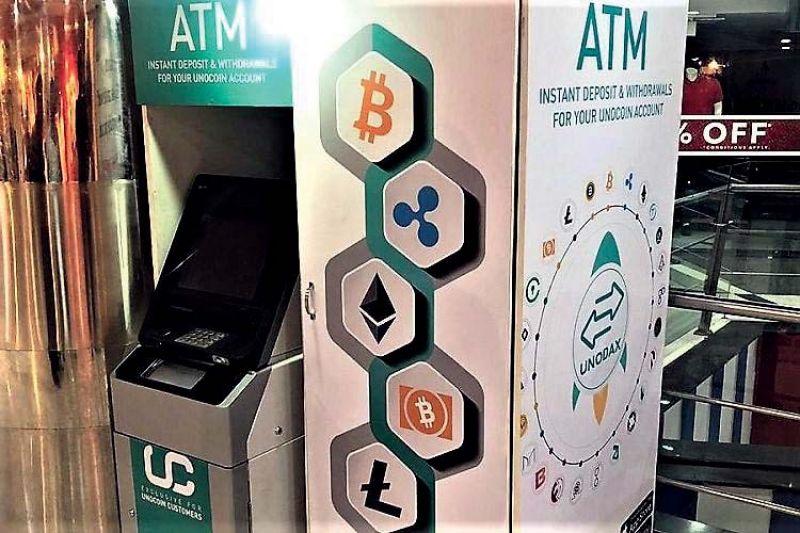 The Bitcoin ATM setup in Bengaluru