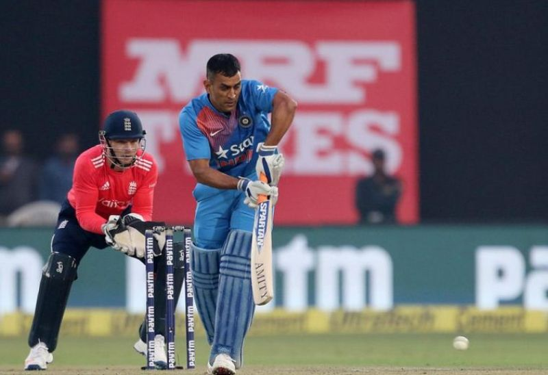 Mahendra Singh Dhoni has not been very effective batting lower down the order in the T20 series against England so far. (Photo: BCCI)