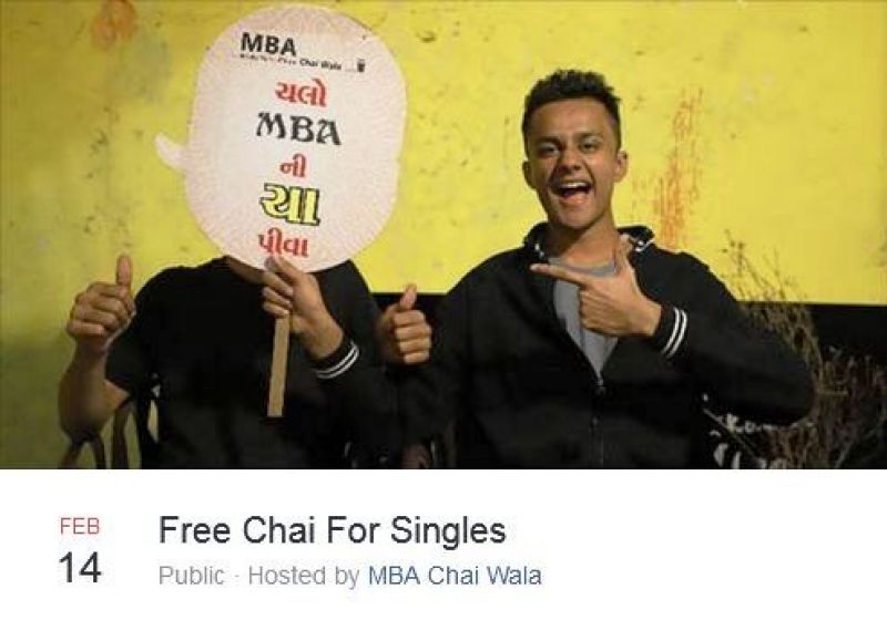 Facebook event for Single's Day. (Photo: MBA Chai Wala/Facebook)