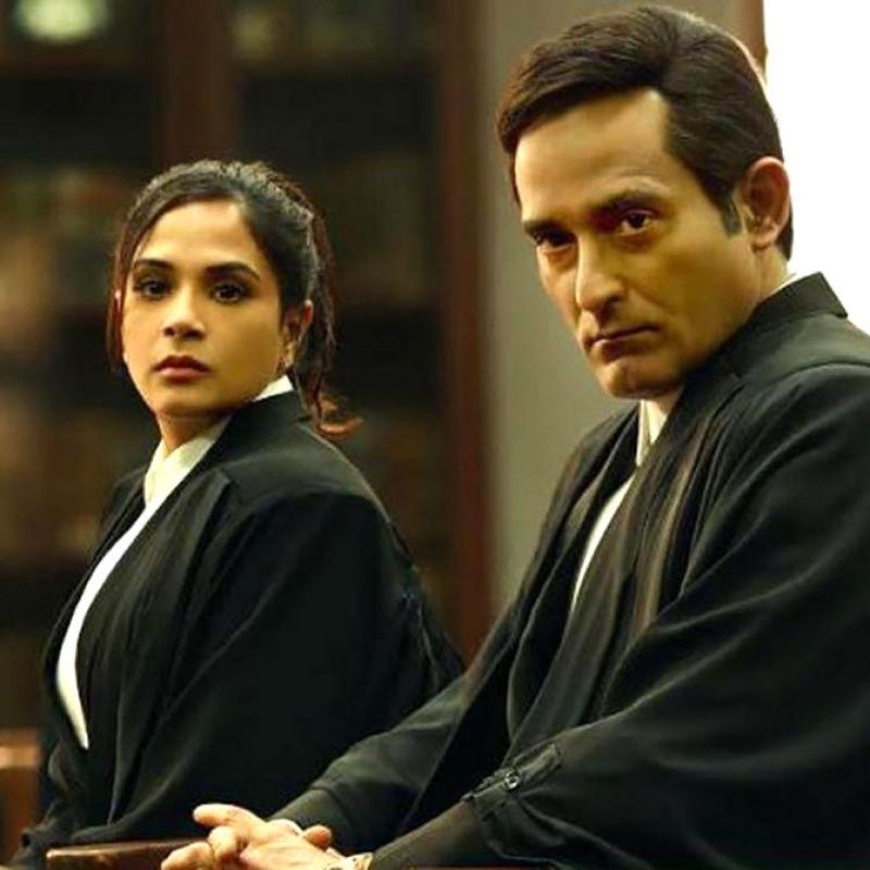 Richa Chadha and Akshaye Khanna in 'Section 375'.