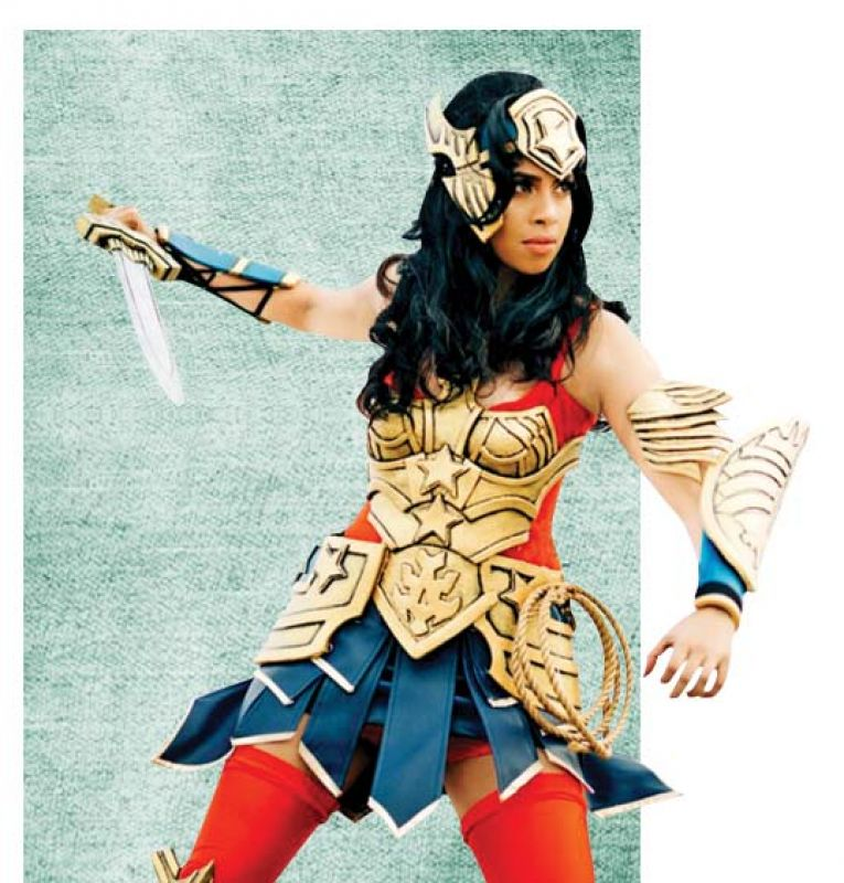 As Wonder Woman in her previous contest.