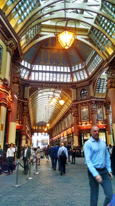 Leadenhall Market, one of the oldest markets in London dating back to the 14th century, is located in the historic centre of the City of London financial district. (Photo: