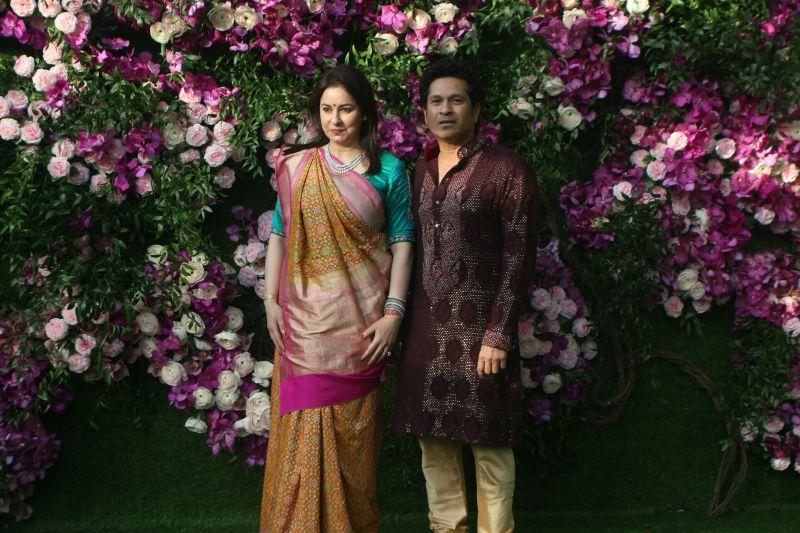 Sachin Tendulkar with wife Anjali Tendulkar. (Photo Courtesy: Mrugesh Bandiwadekar)