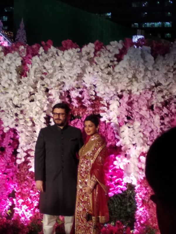 Sonali Bendre with husband Goldie Behl. (ANI Photo)