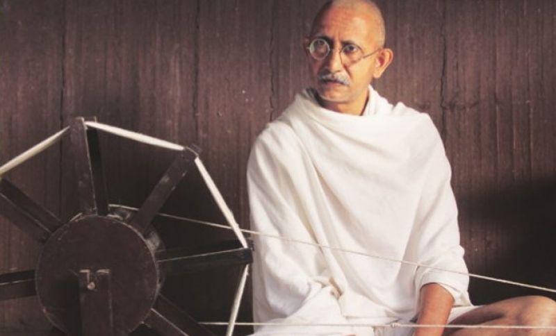 Neeraj Kabi as mahatma Gandhi