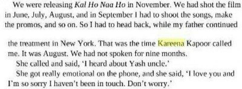 Kareena Karan book
