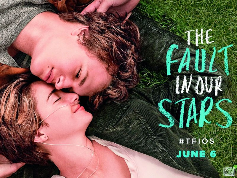 A still from The Fault in Our Stars based on the popular John Green novel
