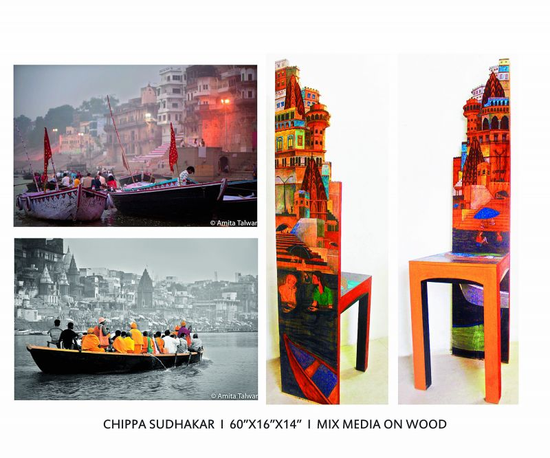 Art by Chippa Sudhakar that was inspired by the Banaras series