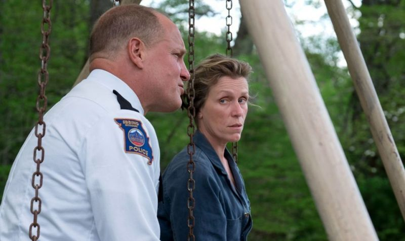 Frances McDormand and Woody Harrelson in a still from the film.